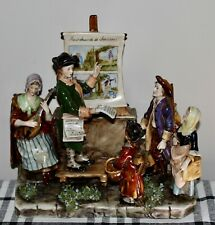 ANTIQUE Figural Group MERCHANT OF SONGS Volkstedt AMAZING DETAIL! Figurine