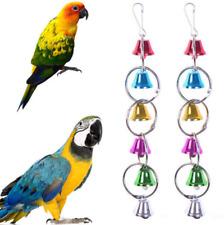 Fashion Pet Bird Bell Toys Chew Parrot Ringer Hanging Swing Cage Parakeet Toy