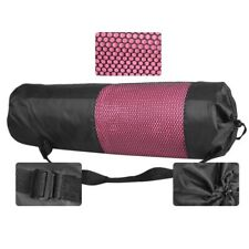 Yoga Mat Storage Mesh Bag Drawstring Bags PVC Adjustable Strap Carrier Mesh Bag