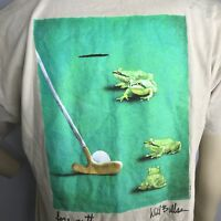 VTG 1998 Will Bullas Golf Short Sleeve T-Shirt Size XL Double Sided Crew Neck