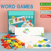 Wooden Cardboard English Spelling Alphabet Game Early Education Educational Kids