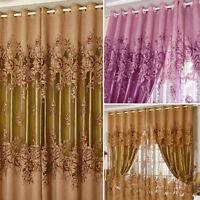 Pivoine modèle voile rideaux salon de la fenêtre rideau de Tulle Sheer