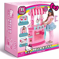 HELLO KITTY KITCHEN CAFE PRETEND PLAY TOY KITCHEN AND ACCESSORIES LIGHTS & SOUND