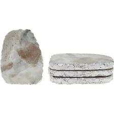 Set di 4 sottobicchieri grigio marmo pietra e argento unico cucina Decor