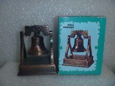 Antique Bronze Finished Die Cast Miniature Pencil Sharpener-Liberty Bell & Box
