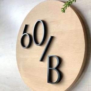 Floating Housing numbers Letters Door Alphabet Numbers Home outdoor numbers