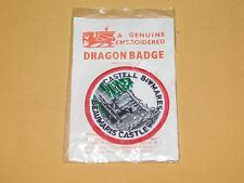 VINTAGE WALES CASTELL BIWMARES BEAUMARIS CASTLE DRAGON BADGE CLOTH PATCH NEW