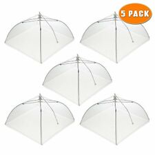 5 x Food Nets Collapsible Pop Up Fly Bug Protection Kitchen Camping Hiking BBQ
