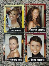 POP CARDS EMMA ROBERTS CHRISTINA RICCI EVA MENDES LEIGHTON MEESTER L