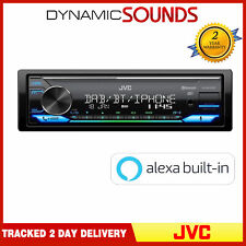 JVC KD-X472DBT Mechless DAB+ Tuner Bluetooth Android iPhone Alexa USB Stereo