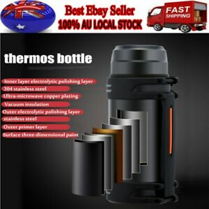 2L Vacuum Insulated Double Stainless Steel Water Bottle Thermos Drink Cup Mug