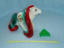 """Rare Vintage My Little Pony """"Merry Treat"""" Holiday Pony with Comb & Ribbon EUC!"""