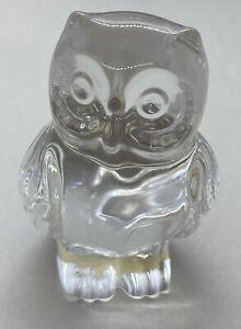Owl Paperweight Glass Crystal Princess House W. Germany Figurine