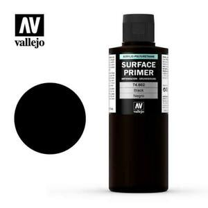 VALLEJO PAINTS 74602 200ml Black Surface Primer Acrylic-Poly FREE SHIP