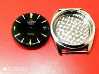 Watch Case 35mm stainless steel and Dial 30mm Black swiss made  Watch Parts NEW