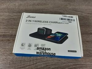 Wireless Charger [with QC 3.0 Adapter], Seneo 2 in 1 Wireless Charging Pad