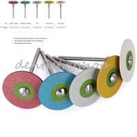 Dental Rubber Diamond Polisher Wheel Disc For Porcelain/Zirconia 5 Sizes