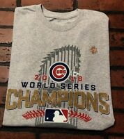 Chicago Cubs MLB 2016 World Series Champions T-Shirt Men's Size Large