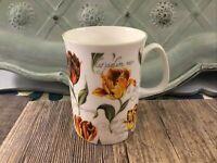 "Rose of England Fine Bone China Mug Tulip Tulip UK 4""  Floral Flowers Tea Coffe"