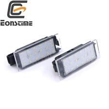 2pcs Error Free LED number License Plate Lights For Renault Clio 05-2014 Megane