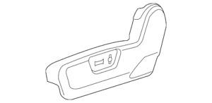 Genuine GM Shield-F/Seat Adjr  Black 22760654