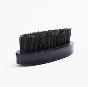 Customize Logo-Black Beech Wood boar bristle beard brush Mini Moustach Brush