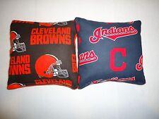 8 Cornhole Bean Bag Toss Set Cleveland Browns and Cleveland Indians