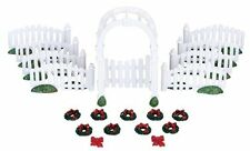 New Lemax Figurines 04233 Arbor And Picket Fence Set Of 20  Polyresin New 2016