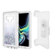For Samsung Galaxy Note 9 Glitter Defender w/Clip Fit Otterbox Case Cover Silver