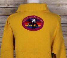Vintage JC de Castelbajac Pour Iceberg Felix the Cat Sweater Yellow 38 Small