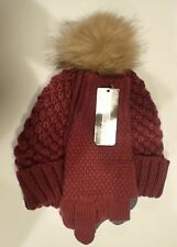 Set of gloves & hat - soft Knit red Women's - Market & Layne