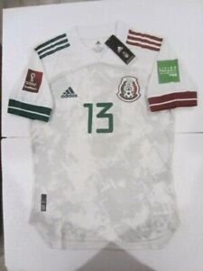ADIDAS GUILLERMO MEMO OCHOA MEXICO WC QUALIFIERS MATCH WHITE AWAY JERSEY 2020-21