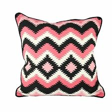 One Duck Two Navajo Pink Cotton Cushion Cover 45 x 45