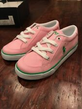Polo Ralph Lauren Brisbane Shoes Sneakers New Size 2 Youth Pink Girls 91854