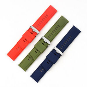 18/20/22mm Silicone Smart Watch Strap Sports Replacement Bracelet Wrist Band