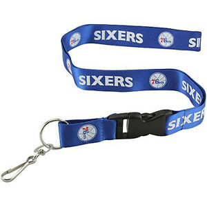 Philadelphia 76ers Blue PSG Deluxe 2-sided Lanyard Breakaway Keychain Basketball