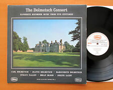 The Dolmetsch Consort SIGNED AUTOGRAPHED LP Favourite Recorder Music LPB 765