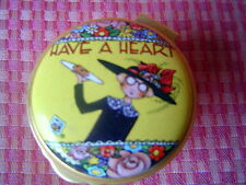 Mary Engelbreit Enamelled porcelain trinket Box Have A Heart 1-3/4 inch round