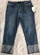 NWT Women's Who What Wear Light Wash, Mid-Rise, 5 Pocket, Crop Jeans - sz 6