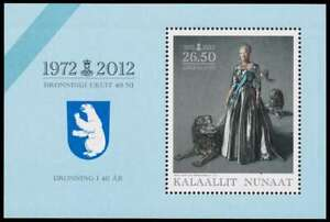 Greenland 2012 Royalty, 40th Jubilee of Queen Margrethe minisheet UNM /MNH