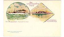 Military/Navy Ship-WHITE SQUADRON-USS COLUMBIA & MINNEAPOLIS-PMC Postcard