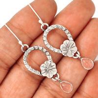 Rose Quartz - Madagascar 925 Sterling Silver Earrings Jewelry AE102766 186R