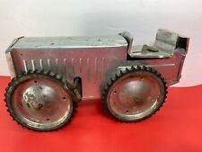 Ferdinand Strauss Wind Up Toy Field Tractor Made In N.Y.C. USA