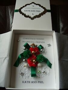 Handmade Personalised Christmas Card With Gift Box