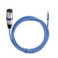 3m 3.5mm Stereo Male to XLR 3Pin Male Audio Microphone Adapter Cable Wire H1