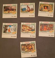 Disney stamps: Winnie the Pooh 100th Anniv Anguilla 1982 - 7 Mint stamps Mnh