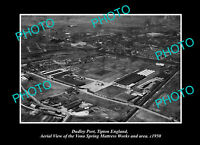 OLD POSTCARD SIZE PHOTO DUDLEY PORT TIPTON ENGLAND DISTRICT AERIAL VIEW c1950