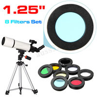 "8pcs/set 1.25""  Eyepiece Filter Set Planetary & Moon Filters Kit for Telescope"