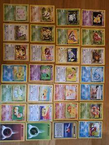 Lot de 28 Cartes Pokémon Set de Base Wizard Fr