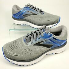 Brooks Adrenaline GTS 18 Mens Size 10 4E Ex-Wide Grey/Blue Athletic Running Shoe